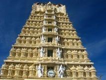 Architecture-II de temple de Chamundi Images libres de droits