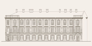 Architecture illustration. Of virtual building Royalty Free Stock Photography