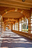 Architecture Indicative Of University Atmosphere. Classical architectural features, arches, columns, and pillars representative of university atmosphere Royalty Free Stock Image