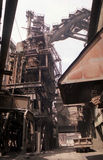 Architecture industrial. Metallurgy industry. Metallurgical furnace. Rustless process Royalty Free Stock Photos