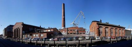 Architecture industrielle dedans à Helsinki Image libre de droits