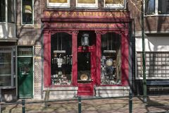 Architecture inner city. Holland Second hand shop. royalty free stock image