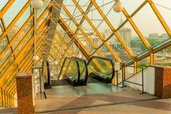 Architecture inside - escalator royalty free stock photography