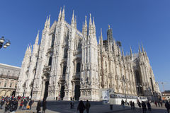 Architecture inside of the Milan Cathedral Stock Photography