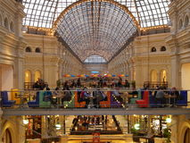 Architecture and inside of Moscow State Department Store (GUM). Royalty Free Stock Images