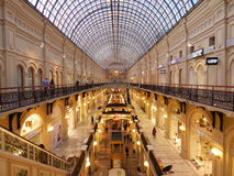 Architecture and inside of Moscow State Department Store (GUM). Stock Photos
