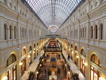 Architecture and inside of Moscow State Department Store (GUM). Stock Image