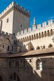 Architecture inside Palais des Papes at Avignon Stock Photo