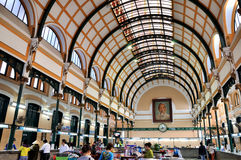 Architecture inside of Saigon post office, VietNam Royalty Free Stock Images