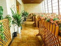 Architecture, intérieur d'hôtel moderne Images stock