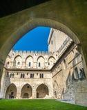 Architecture intérieure de palais papal photo stock