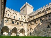Architecture intérieure de palais papal images libres de droits