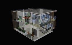 Architecture intérieure et extérieure Image libre de droits