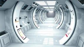 Architecture intérieure futuriste Images libres de droits