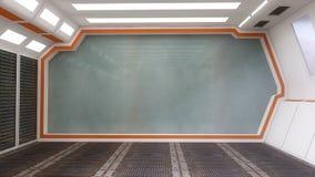 Architecture intérieure futuriste Photos stock