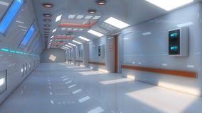 Architecture intérieure futuriste Images stock