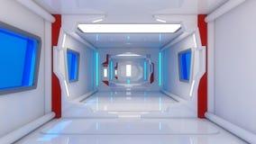 Architecture intérieure futuriste Photographie stock