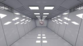 Architecture intérieure moderne de scifi photos stock