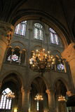 Architecture intérieure renversante, Notre Dame, Paris, 2016 photos stock