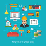 Architecture and interior design concept. Architect or developer Royalty Free Stock Image