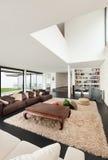 Architecture, interior of a modern villa Stock Photos