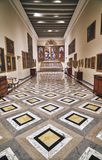 Beautiful floor in the museum stock photos