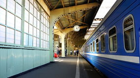 Architecture iron structures and shelters the historical railway station.  stock footage
