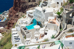Architecture of  island of Santorini, Royalty Free Stock Photography
