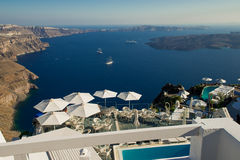 Architecture of  island of Santorini, Royalty Free Stock Images