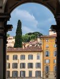 Architecture italienne colorée à Florence Images libres de droits