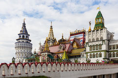 Architecture of the Izmailovo Kremlin in Moscow Stock Images