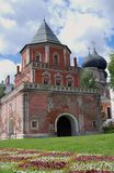 Architecture of Izmailovo manor in Moscow. Bridge Tower Stock Image