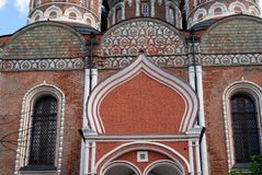 Architecture of Izmailovo manor in Moscow. Intercession Cathedral Royalty Free Stock Photo