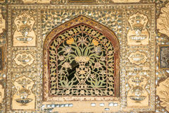 Architecture in Jaipur. Old window elaborately decorated. Royalty Free Stock Image