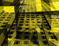 Architecture jaune Photo stock