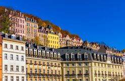 Architecture of Karlovy Vary (Karlsbad) in autumn, Czech Republi. C. It is the most visited spa town in the Czech Republic Royalty Free Stock Images