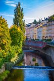 Architecture of Karlovy Vary Karlsbad, Czech Republic. It is t. He most visited spa town in the Czech Republic Stock Photo