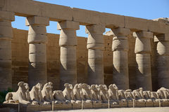 Architecture of Karnak Temple Complex Stock Photo