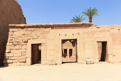 Architecture of Karnak Temple - Egypt. Architecture of Karnak Temple at Luxor - Egypt Karnak temple - Most huge temple at Egypt royalty free stock photos