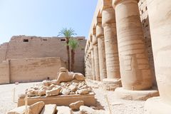 Architecture of Karnak Temple - Egypt. Architecture of Karnak Temple at Luxor - Egypt Karnak temple - Most huge temple at Egypt stock photo