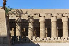 Rams way Karnak Temple at Luxor - Egypt. Architecture of Karnak Temple at Luxor - Egypt Karnak temple most huge temple at Egypt stock photo