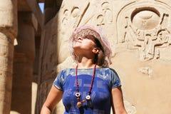 Tourist at Karnak Temple - Egypt royalty free stock image