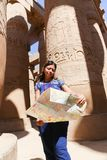 Tourist at Karnak Temple - Egypt royalty free stock photos