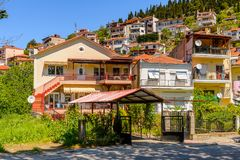 Architecture of Kastoria, West Macedonia, Greece. Royalty Free Stock Photography