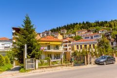 Architecture of Kastoria, West Macedonia, Greece. Royalty Free Stock Images