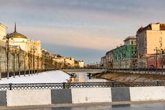 Architecture of Kazan city stock photography