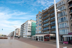Architecture in Koksijde - Houses on the promenade.  Stock Photography