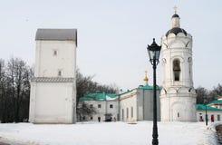 Architecture of Kolomenskoye park in Moscow. Stock Photos