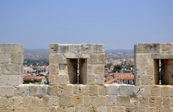 Architecture from Kolossi castle Royalty Free Stock Photos