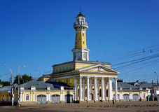 Architecture in Kostroma city , Fire tower Royalty Free Stock Photos